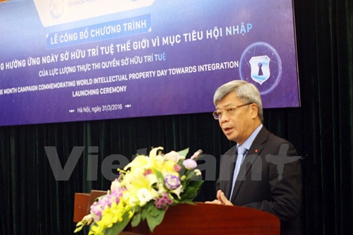 Vice Minister of Science and Technology (MOST) Tran Viet Thanh speaks at the event. — Photo VNA