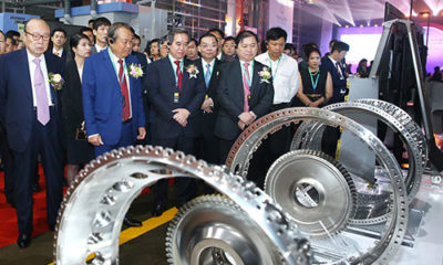 Vietnam's first airplane parts factory opened on Thursday. Photo by VnExpress/Le Tien
